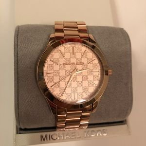 NWT Michael Kors Run Way Rose Gold Watch